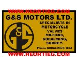 G AND S Motors Dealer Decals Transfers DDQ117